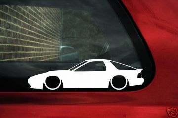 2x LOW Mazda Rx7 FC Savanna,Turbo GT limited Silhouette outline stickers, Decals